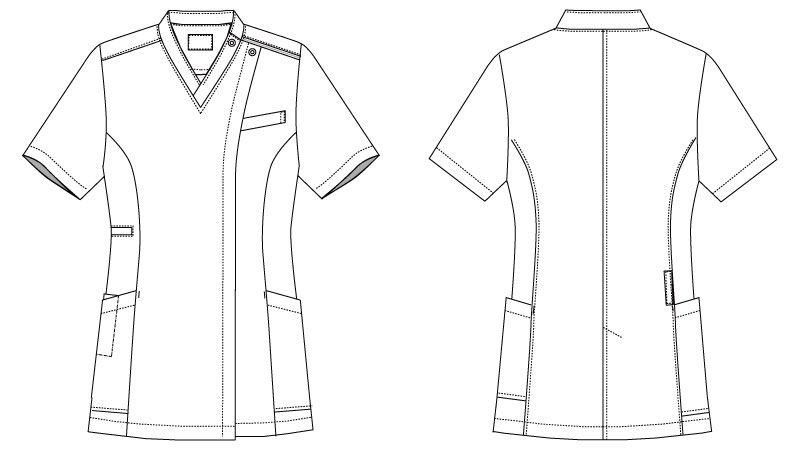 MK-0002 ミッシェルクラン(MICHEL KLEIN) ファスナースクラブ(女性用) ハンガーイラスト・線画