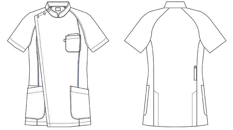 MZ-0049 ミズノ(mizuno) ケーシージャケット(男性用) ハンガーイラスト・線画
