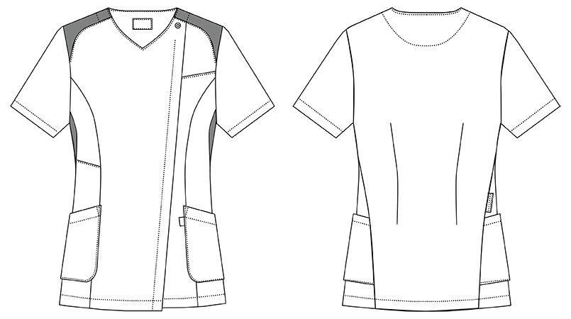 MZ-0165 ミズノ(mizuno) ジャケット(女性用) ハンガーイラスト・線画