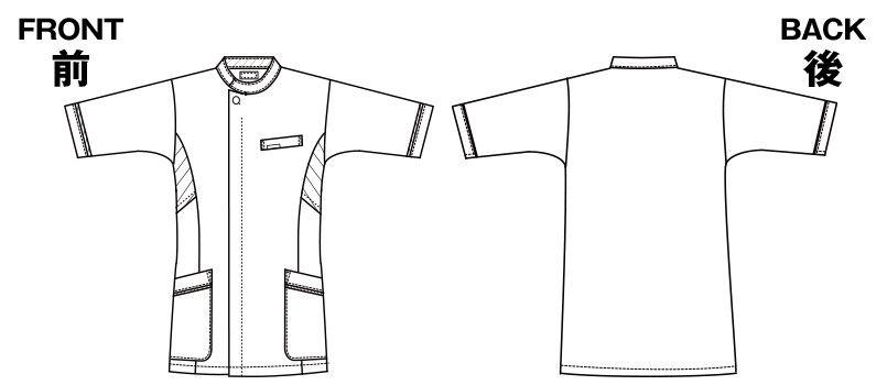 1015EW FOLK(フォーク) メンズケーシー(男性用) ハンガーイラスト・線画