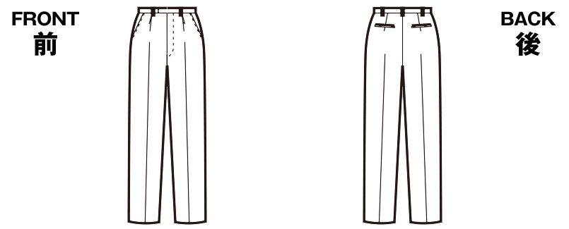 FP6006 nuovo(ヌーヴォ) [通年]パンツ 無地 ハンガーイラスト・線画