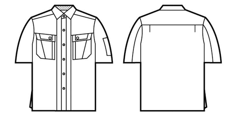 自重堂 47314 [春夏用]半袖シャツ ハンガーイラスト・線画