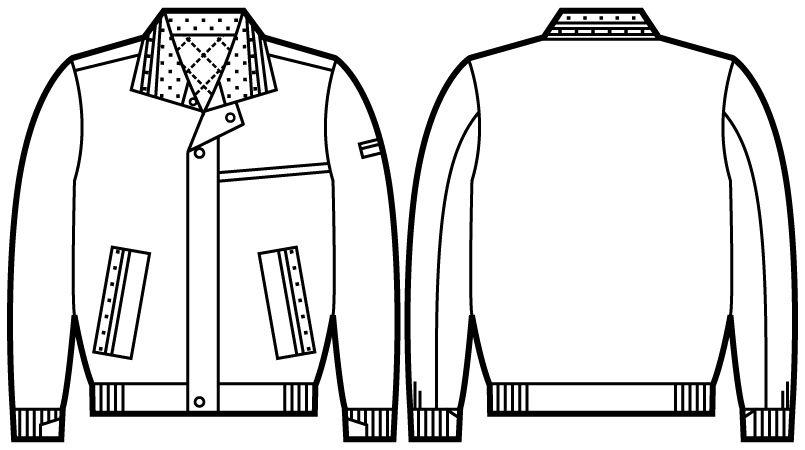 自重堂 48330 軽量防寒ブルゾン ハンガーイラスト・線画