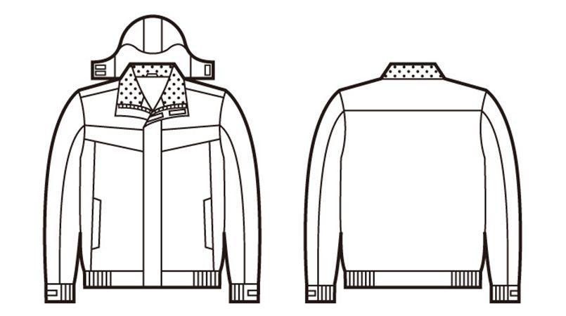 自重堂  [秋冬用]48460防水防寒ブルゾン(フード付き・取り外し可能) ハンガーイラスト・線画