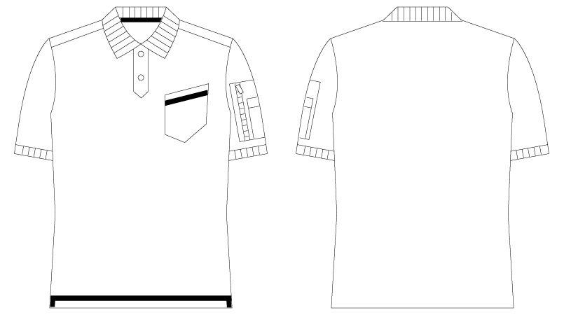 自重堂 55354 [春夏用]JAWIN 鹿の子半袖ポロシャツ ハンガーイラスト・線画