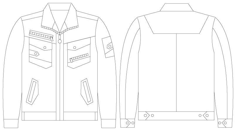 自重堂JAWIN 56000 [春夏用]長袖ジャンパー(新庄モデル) ハンガーイラスト・線画