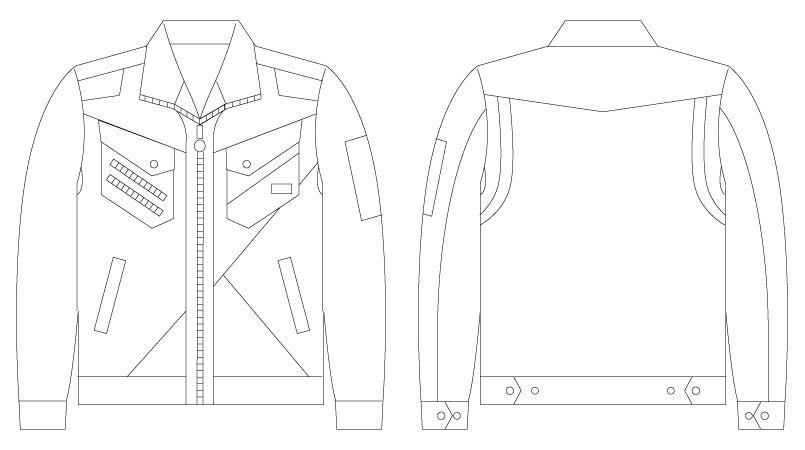 自重堂JAWIN 56300 [春夏用]長袖ジャンパー(新庄モデル) ハンガーイラスト・線画