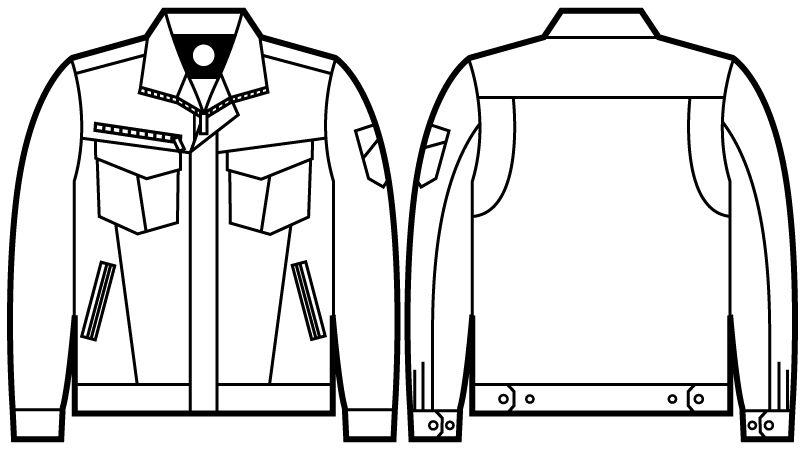 自重堂Z-DRAGON 71000 ストレッチジャンパー ハンガーイラスト・線画