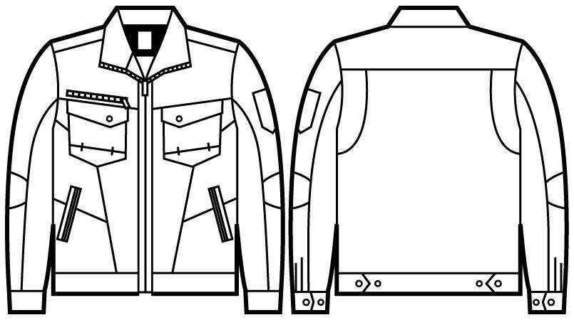自重堂Z-DRAGON 71200 綿100%ジャンパー ハンガーイラスト・線画