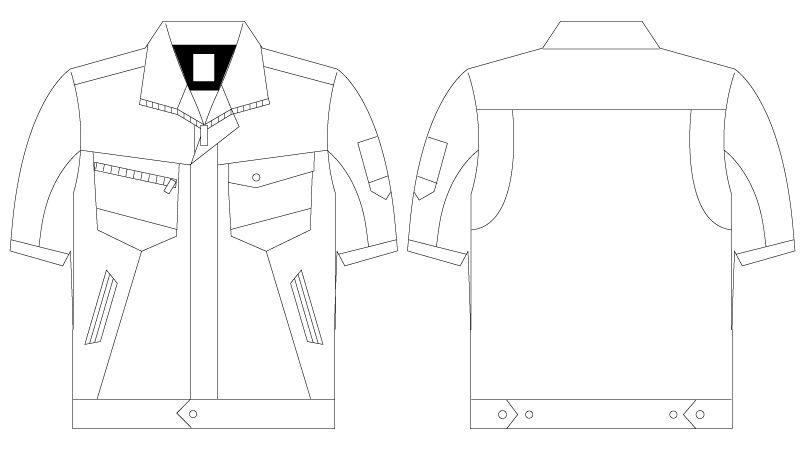 自重堂Z-DRAGON 75310 [春夏用]製品制電半袖ジャンパー(男女兼用) ハンガーイラスト・線画