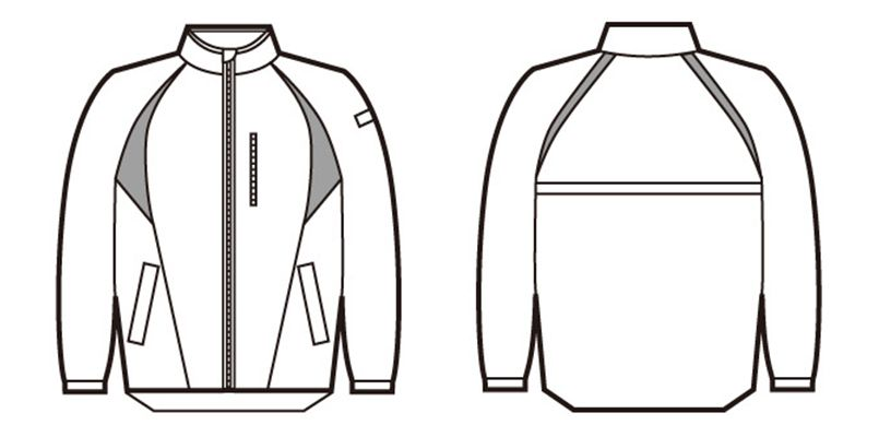 自重堂 81260 スタッフジャケット ハンガーイラスト・線画