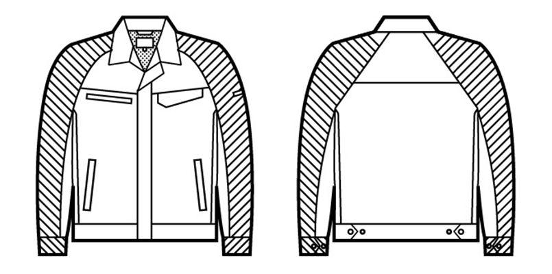 自重堂 86800 製品制電ストレッチ長袖ジャンパー(男女兼用) ハンガーイラスト・線画