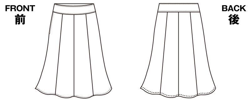 S-16601 16609 SELERY(セロリー) マーメイドスカート ボーダー ハンガーイラスト・線画